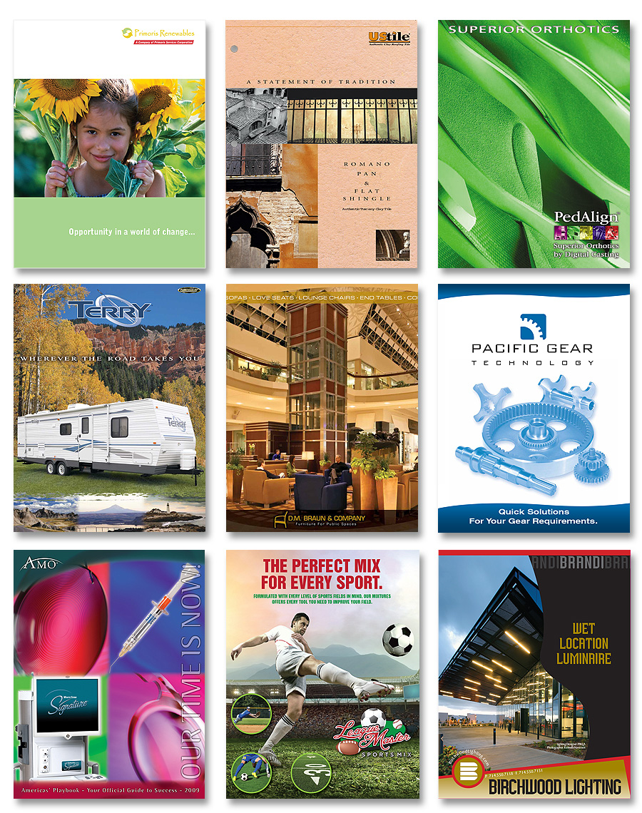 Kray Marketing - Brochure design, annual reports, flyers, cards, business cards, collateral, tri-fold brochures, pamphlets, etc.