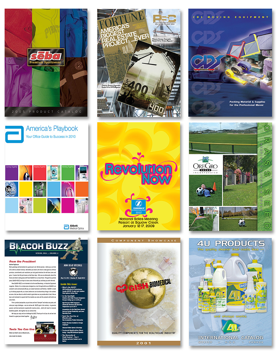 Kray Marketing - catalog design, full-line brochures and catalogs, newsletters, news publications